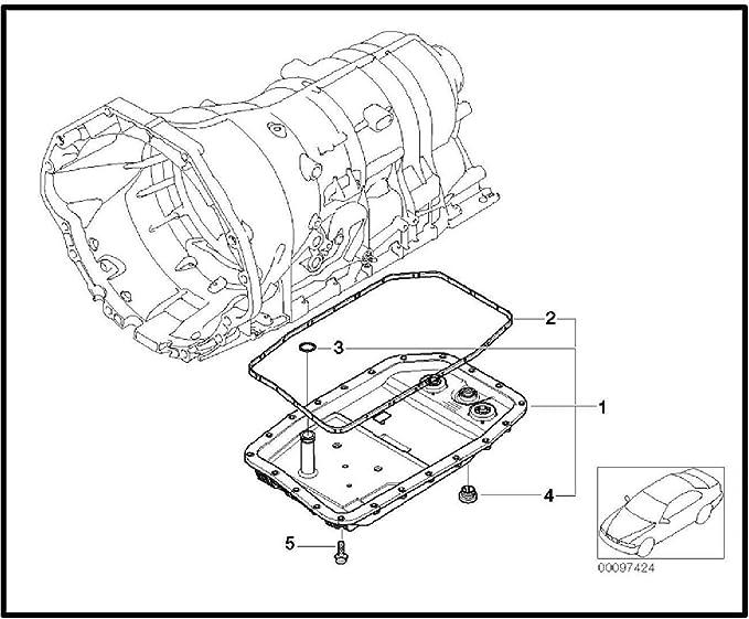 Bapmic 24117571227 Transmisi/ón Autom/ática C/árter de Aceite Kit con el Sello Filtro Tornillo Adaptador Dichth/ülse E60