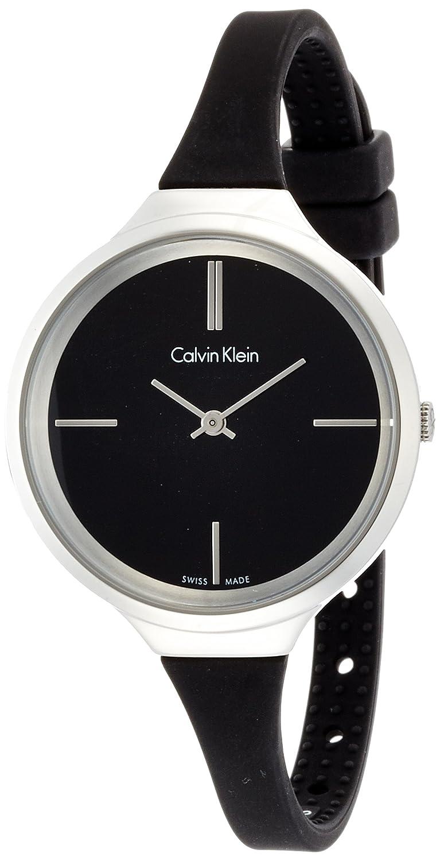 Calvin Klein Damen-Armbanduhr Analog Quarz Kautschuk K4U231B1