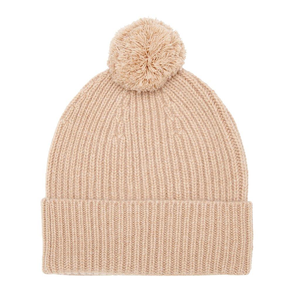 Pure Cashmere Bobble Hat, Beige