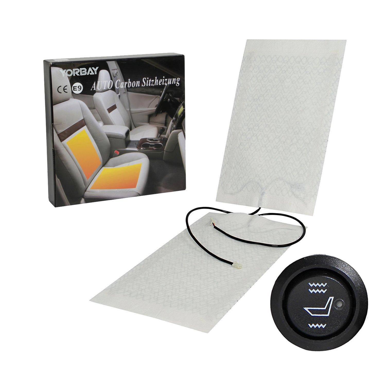 Yorbay, 1 set di riscaldamenti per il sedile dell'auto, composto da 2 tappetini riscaldanti della , con interruttore per la regolazione del livello 1 set di riscaldamenti per il sedile dell' auto Yorbay eBusiness GmbH Dropship
