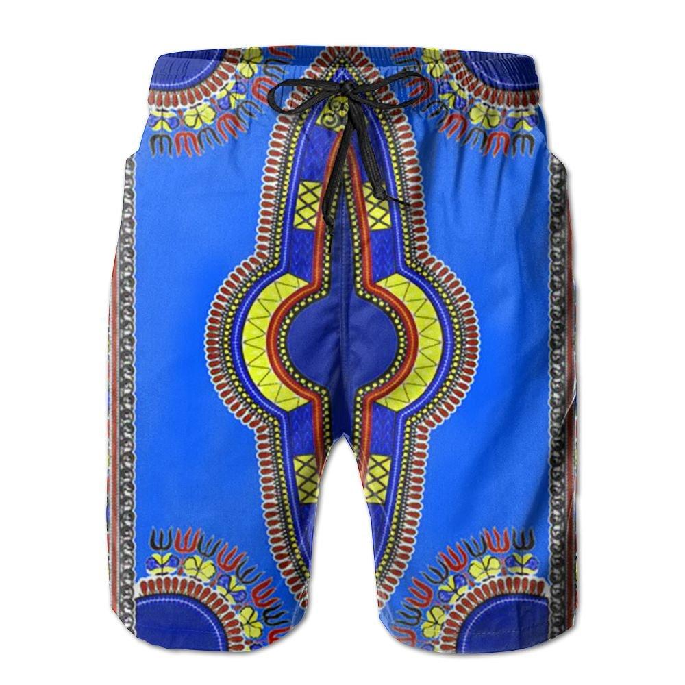 dff89f25de AA WIU African Dashiki Mens Summer Quick Dry Swim Trunk Drawstring Surf Board  Shorts Swimwear