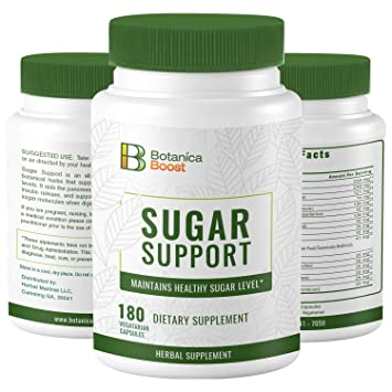Botanica Boost 450mg Blood Sugar Support Supplement, 100% Natural Blend of  17 Herbs for Healthy