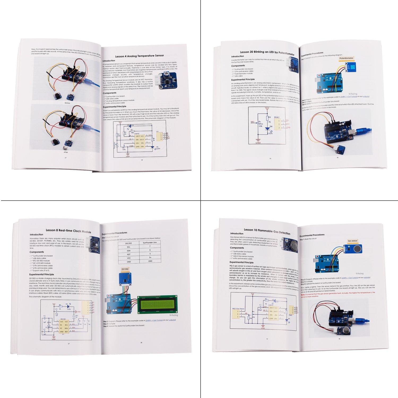 Sunfounder Ultimate Mega 2560 Sensor Kit V20 For Relay Board Wiring Diagram Arduino Uno R3 Mega2560 Mega328 Nano Including 98 Page Instructions Book Computers