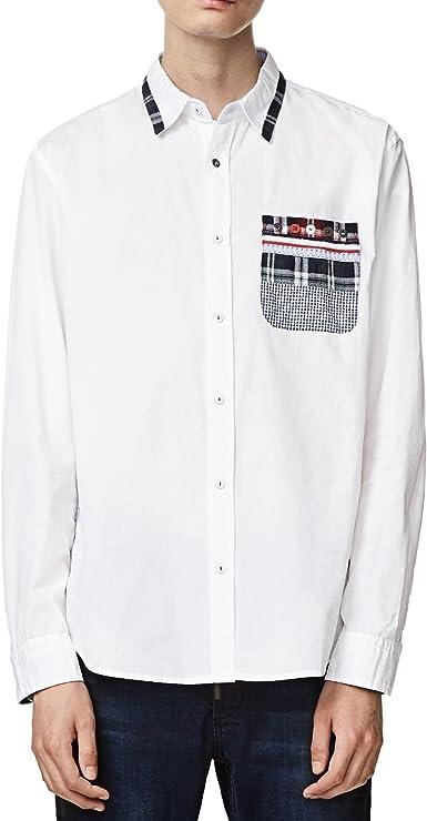 Desigual - Camisa Oriol - XL, Blanco: Amazon.es: Ropa