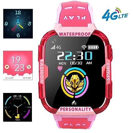Amazon.com: PTHTECHUS 4G Kids Smart Watch Phone - WiFi GPS ...