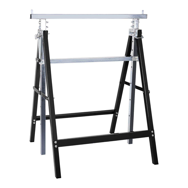 STIER Teleskop-Arbeitsbock | 200 kg | Hö henverstellbar 82 -130 cm | aus stabilem Stahl-Vierkantrohr | kratzfeste Kunststoffbeschichtung | Arbeitsbock |