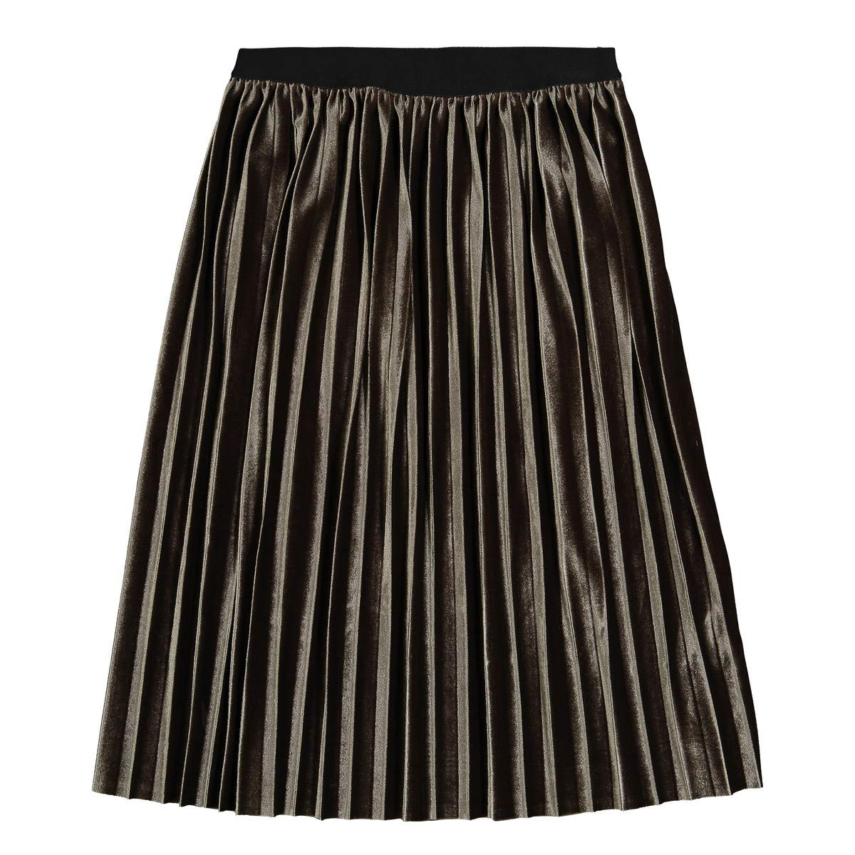 3-12 Years La Redoute Collections Big Girls Long Pleated Velour Skirt