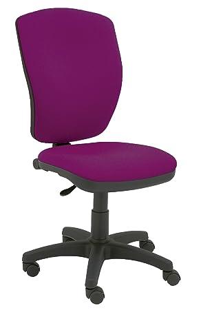 Centrosilla Silla de Oficina giratoria Mirage ergonómica con Mecanismo de Contacto Permanente, Regulable en Altura y Profundidad (Color a Elegir) (Magenta): ...