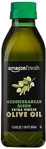 AmazonFresh Mediterranean Extra Virgin Olive Oil, 16.9 fl oz (500mL)
