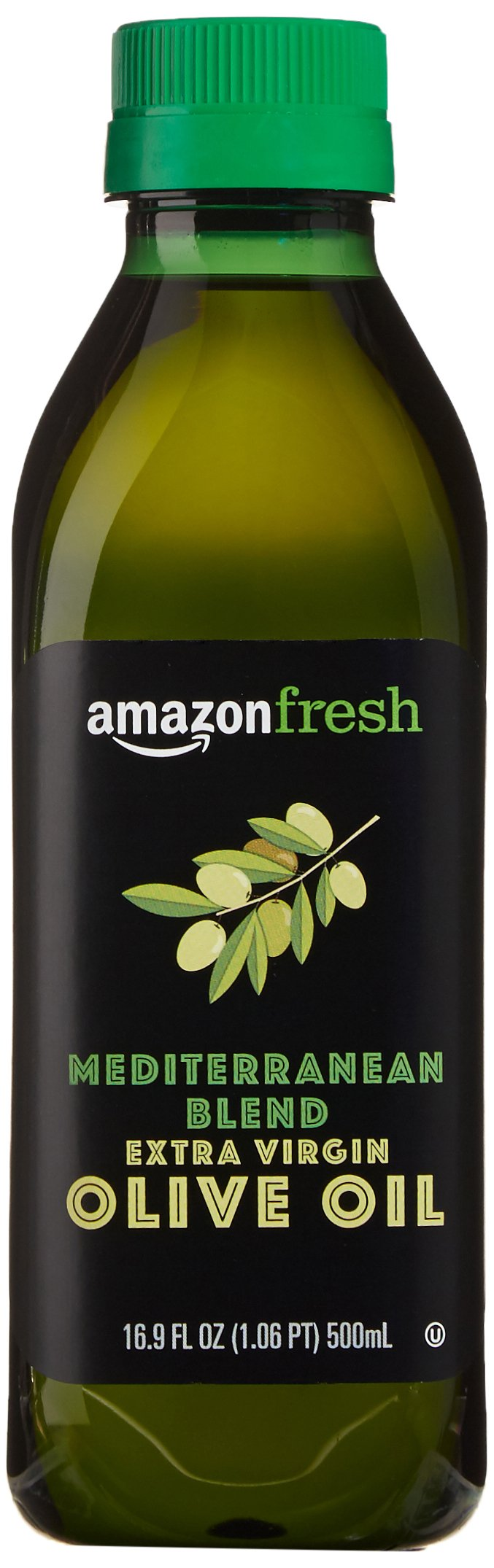 AmazonFresh Mediterranean Extra Virgin Olive Oil, 16.9 fl oz (500mL) 1 Buttery, mild flavor Product of Greece, Italy and Spain Sourced from growers in the Mediterranean region; bottled in Italy