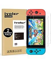 iVoler [2 Stücke] Nintendo Switch Panzerglas Schutzfolie [9H Härte] [Anti- Kratzer] [Bläschenfrei] [2.5D Runde Kante]