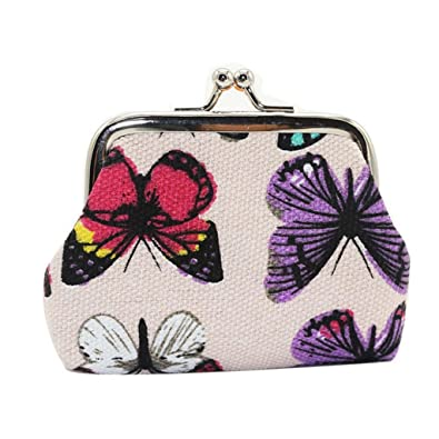 a82fe6218774 Sunsee Womens Butterfly Small Wallet Card Holder Coin Purse Clutch ...