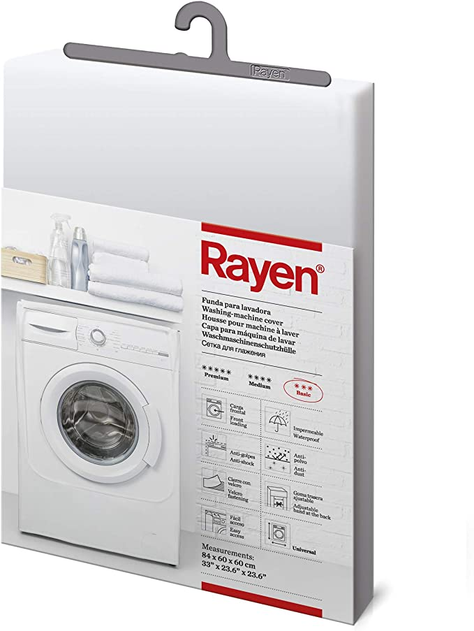 Rayen 2398.11 Funda Para Lavadora, 84 X 60 X 60 cm, Transparente ...