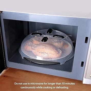 tapa protectora para placa de microondas con ventilaci/ón de vapor de 11,8 pulgadas Cubierta magn/ética para salpicaduras de microondas
