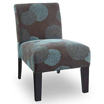 Deco Sunflower Fabric Slipper Chair Color: Blue Sunflower
