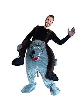 F106 M-L, traje de carnaval de lobo para hombre u. Mujer ...