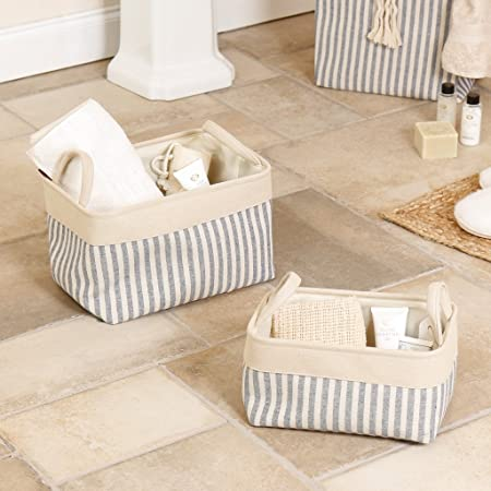 Set of Two Multi Use Home Storage Baskets High Quality