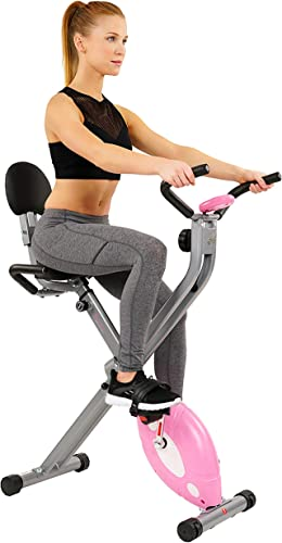 Sunny Health Fitness Magnetic Folding Recumbent Exercise Bike Includes Digital Monitor