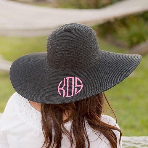 Amazon.com  Monogram Floppy Beach Hat Available in Eight Colors  Handmade f0c51eeb1b9