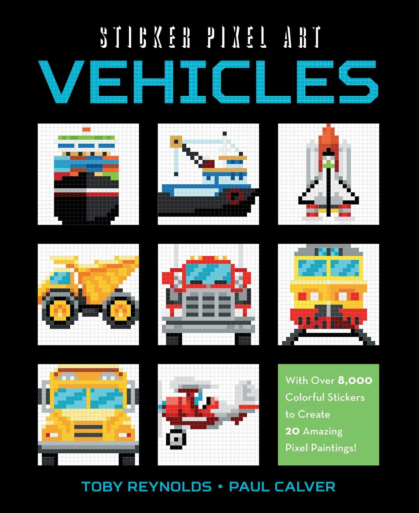 Amazoncom Sticker Pixel Art Vehicles With Over 8000