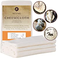 Cheesecloth, Grade 90, 27 Sq Feet, Reusable, 100% Unbleached Cotton Fabric, Ultra Fine Cheesecloth for Cooking - Nut Milk Bag, Strainer, Filter (Grade 90-3Yards)