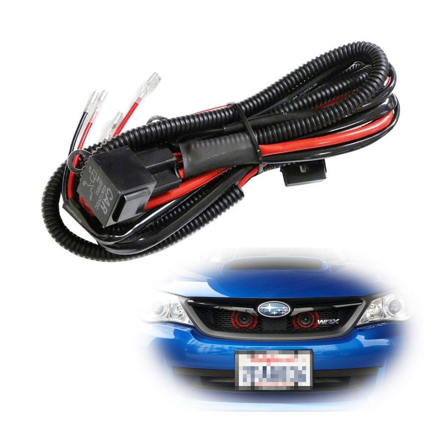 Ijdmtoy 1 12v Horn Wiring Harness Relay Kit For Car 2005 Jeep Grand Cherokee Diagram Truck Grille Mount Blast Tone Horns Actual Not Included Automotive