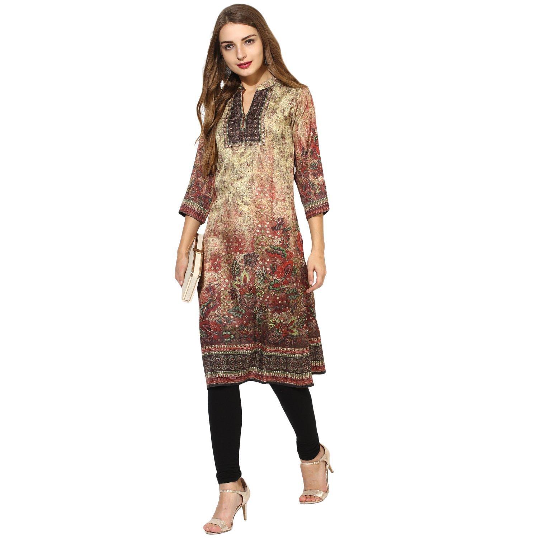 Lagi Kurtis Ethnic Women Kurta Kurti Tunic Digital Print Top Dress Casual Wear New Launch by