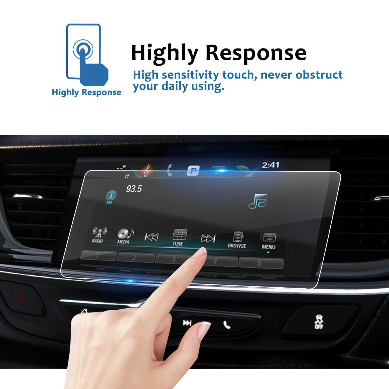 9H Infotainment Screen Center Touchscreen Protector Anti Scratch High Clarity LFOTPP 2018 Buick Regal Sportback IntelliLink 8 Inch TRAPEZOID Tempered Glass Car Navigation Screen Protector,