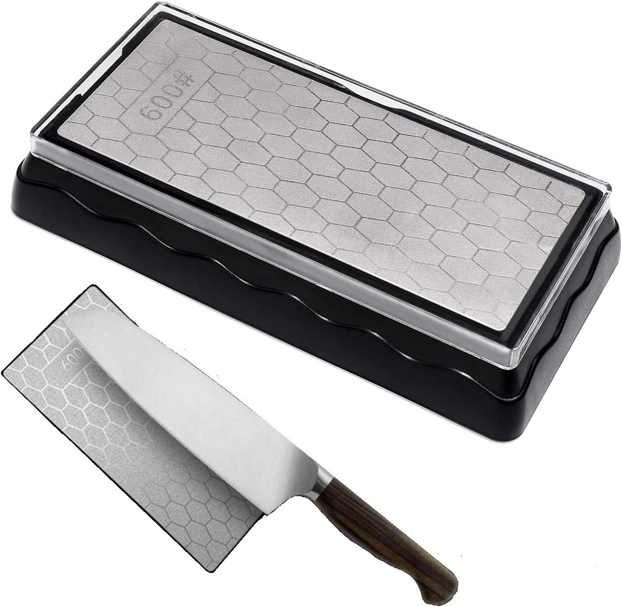 Amazon Com Diamond Knife Sharpening Stone Double Sided Whetstone