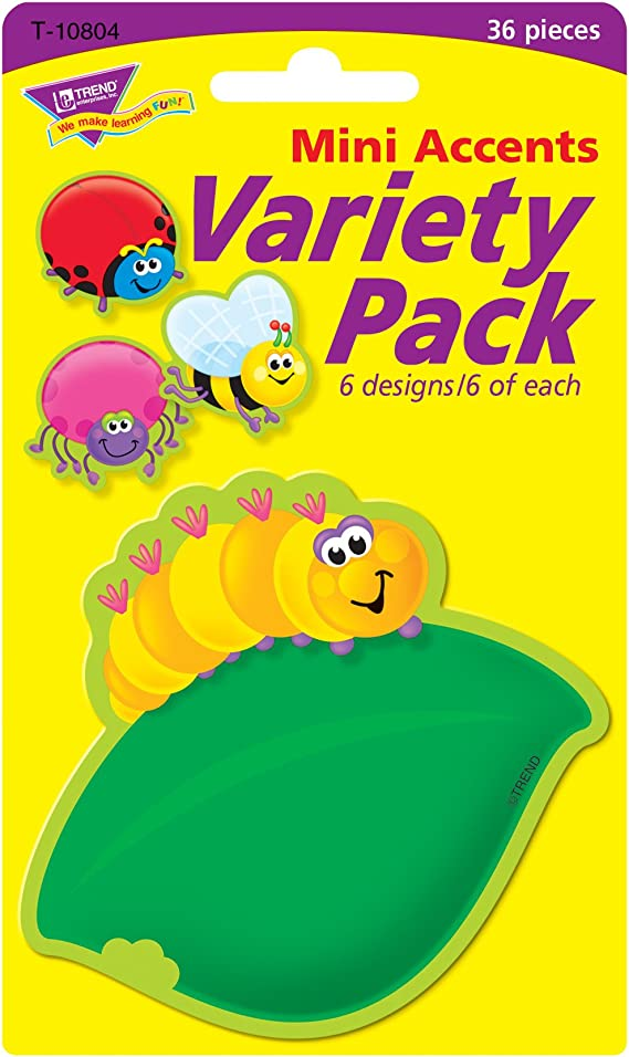 Amazon Com Trend Enterprises Inc Bugs Mini Accents Variety Pack 36 Ct Themed Classroom Displays And Decoration Office Products