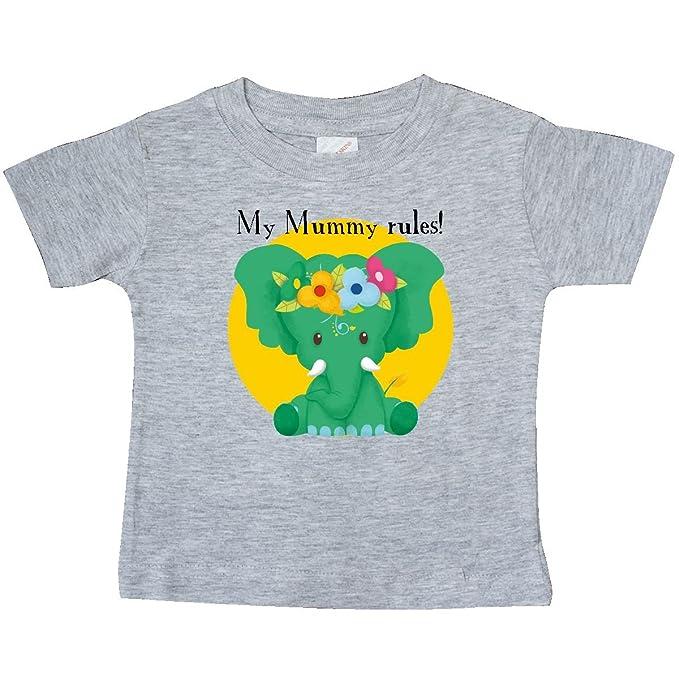 ec453821e inktastic - My Mummy Rules Baby T-Shirt 6 Months Heather Grey - Tiny Tusks