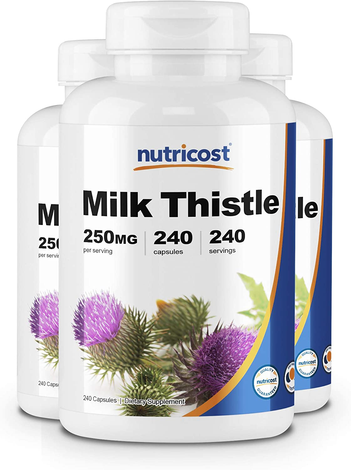 Nutricost Milk Thistle 250mg, 240 Capsules 3 Bottles