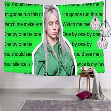 New Billie Eilish Colorful Tapesties Home Wall Blanket Decorative Tapestry Room