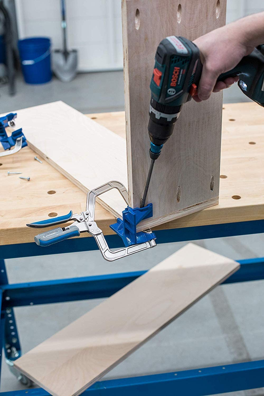 SPARIK ENJOY 90 Degree Corner Clamp Carpenter Welding Engineering Photo Framing Angle Clamps Adjustable Vise for Wood-working Blue