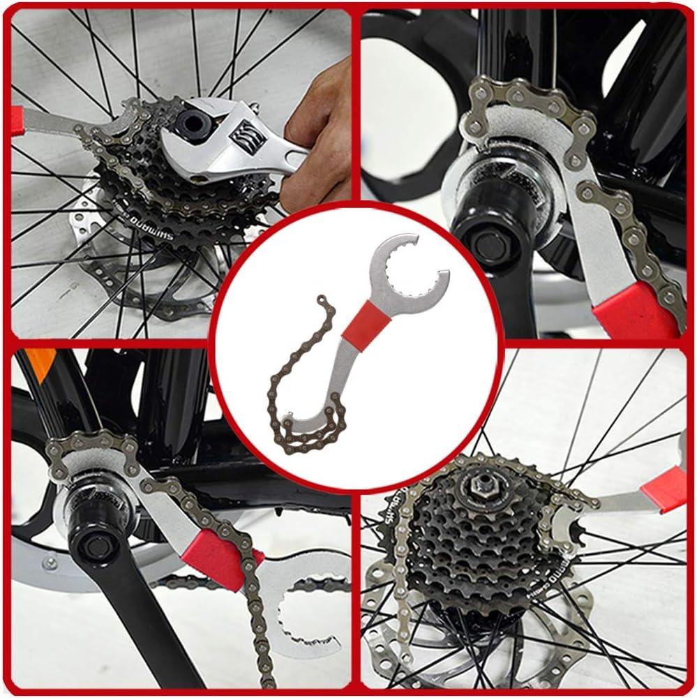 Fahrrad Kassette Removal Tool mit Kurbelabzieher und Innenlager-Entferner 4 in 1