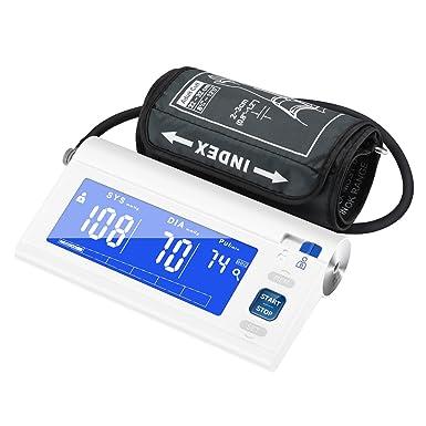 Mpow Tensiómetro de Brazo Eléctrico, Monitor de Presión Arterial de Pulso, 120 Memorias para