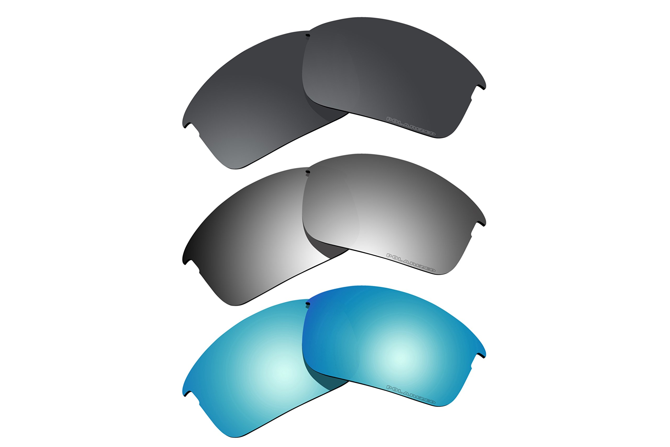 3 Pairs Polarized Lenses Replacement for Oakley Bottle Rocket Sunglasses R9