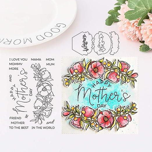 Vivianu - Plantillas para estampar el día de la madre, para scrapbooking, decoración de tarjetas: Amazon.es: Hogar