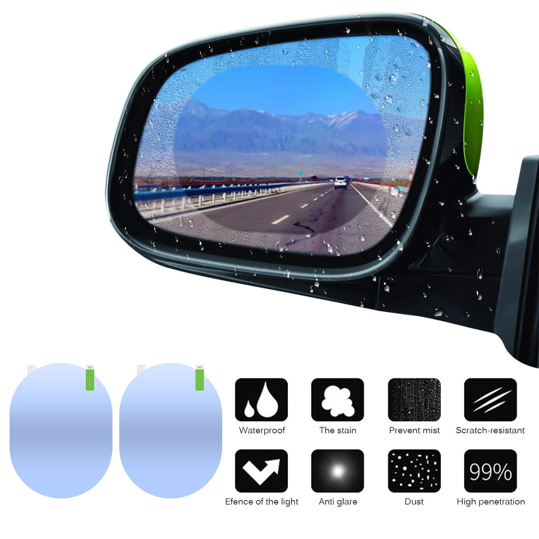 100 x 135 mm TiooDre 1 Paar Regenschutz f/ür Autos transparent selbstklebend R/ückspiegel Blindschutz