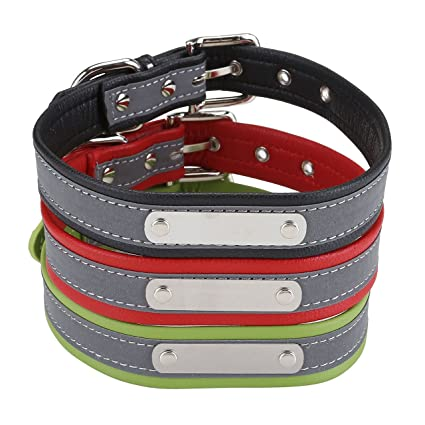 amazon com cozycabin personalized reflective dog id collar