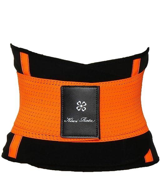 cc09eccb2b1 SLIMBELLE Waist Trainer Corset Latex Body Shaper Workout Tummy Trimmer Firm  Control 7 Steel Boned Cinchers Sport Belt for Women Weight Loss   Amazon.co.uk  ...