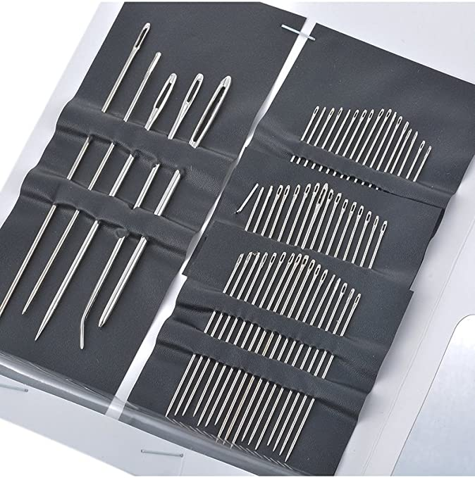55Pcs Embroidery Sewing Needles Kits Stainless Steel Sewing Set Mending Craft Quilt Needles Sewing Accessories