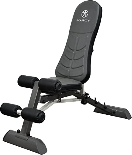 Marcy Deluxe Foldable Utility Bench Gym Equipment – SB-10100