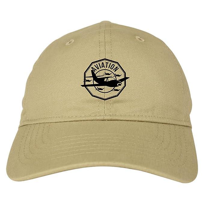 00104217e9ada2 Aviation Airplane Aviator 6 Panel Dad Hat Cap Beige at Amazon Men's ...