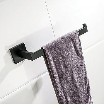 Turs contemporánea baño toalla mano anillo toallero soporte sus 304 acero inoxidable montaje en pared, acabado negro mate, A7003BK: Amazon.es: Bricolaje y ...