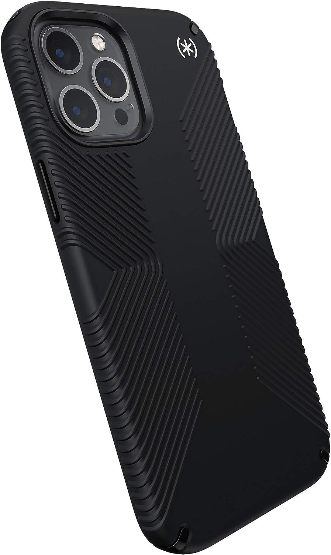 Speck Products Presidio2 Grip iPhone 12 Pro Max Case, Black/Black/White