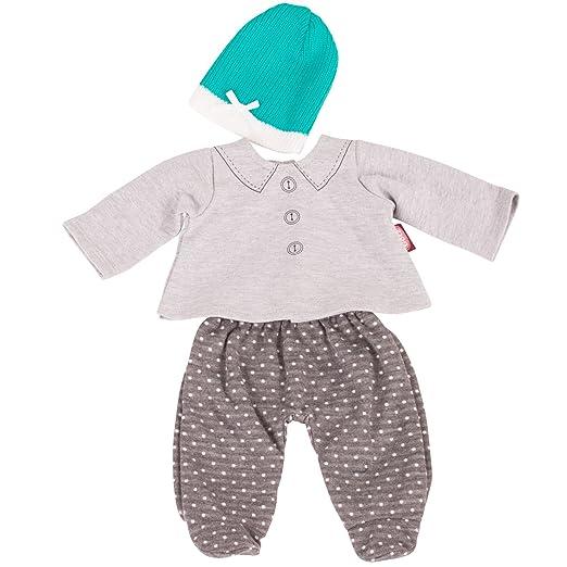 Götz 3402839 Babykombi Stylish Spots Gr. S - 3-teiliges Bekleidungsset für Babypuppen mit Einer Größe von 30 - 33 cm - besteh