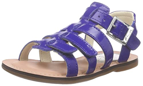 391337ae6b7 Clarks Girls  Loni Joy Inf Ankle Strap Sandals Blue Size  8 Child UK ...