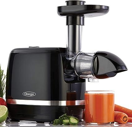 Omega H3000D Cold Press 365 Juicer Slow Masticating Extractor Cria deliciosas frutas vegetais e folhas verdes Alto rendimento de suco e preserva valor nutricional, 150 watts, preto