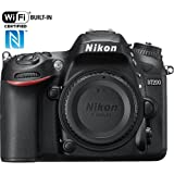 Nikon D7200 24.2 MP DX-format Digital SLR Camera Body Only with Wi-Fi and NFC - Black (CERTIF1ED Renewed)